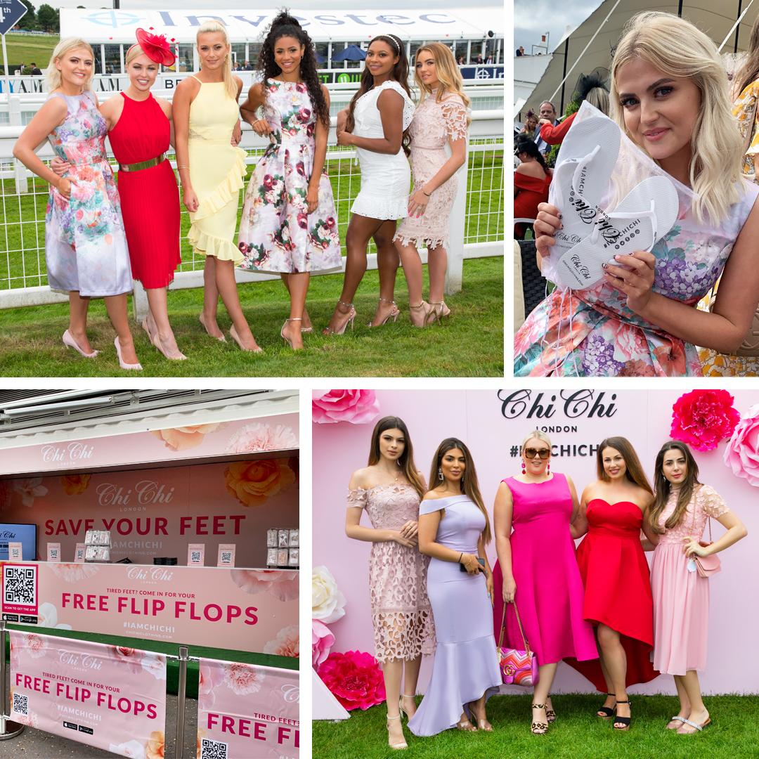 Chi Chi London brand activation at Epsom Ladies' Day