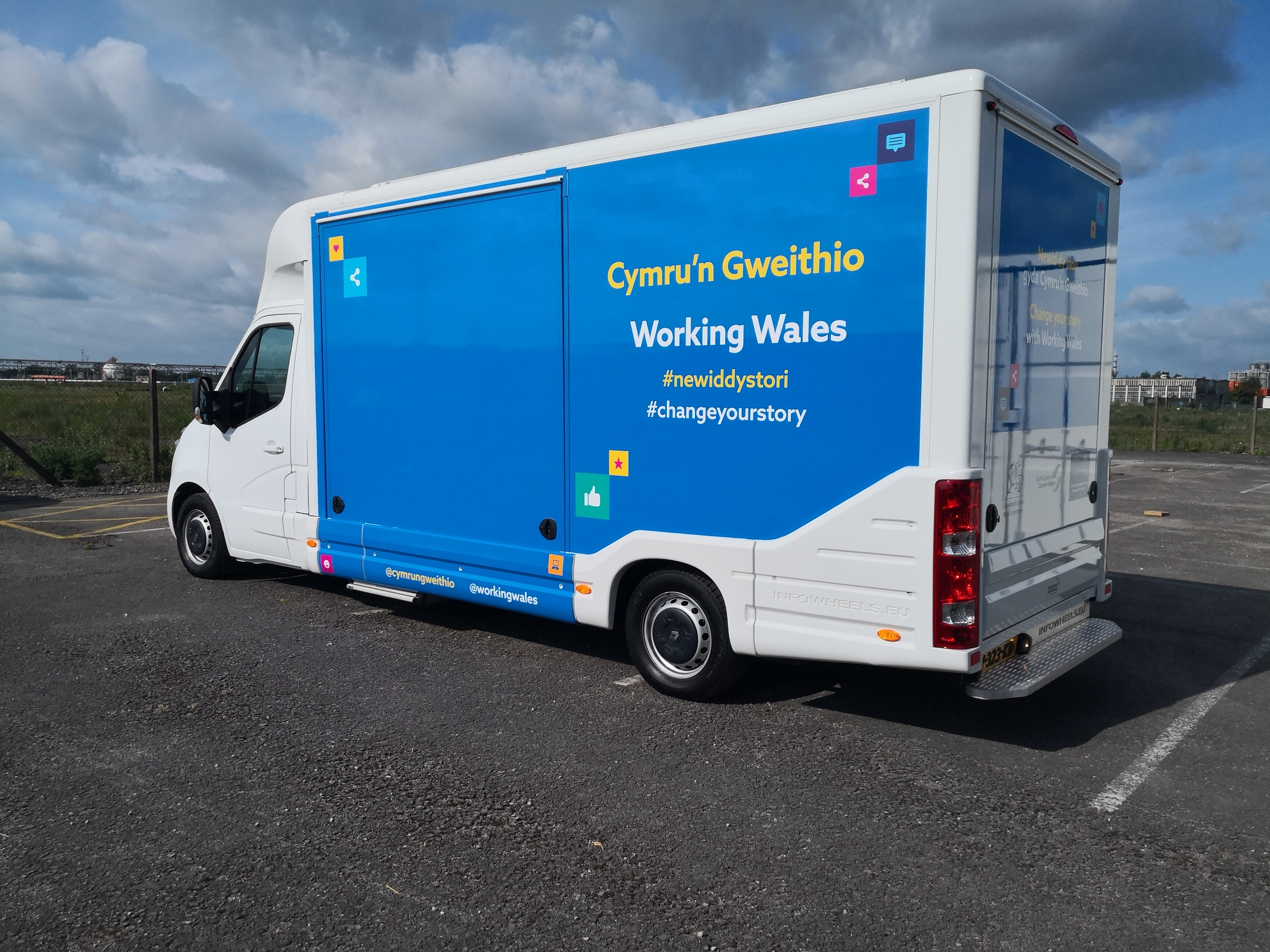 Ranger self-drive exhibition unit touring with Working Wales