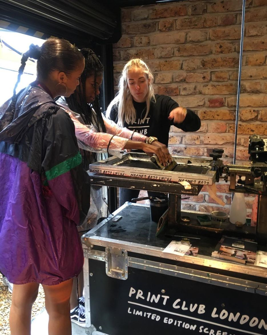 Dr Martens printing memorabilia tote bags at Field Day Festival brand activation