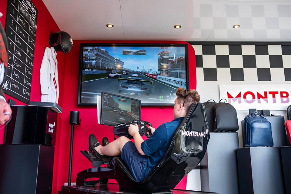 Montblanc gaming station at Goodwood Festival of Speed brand activation