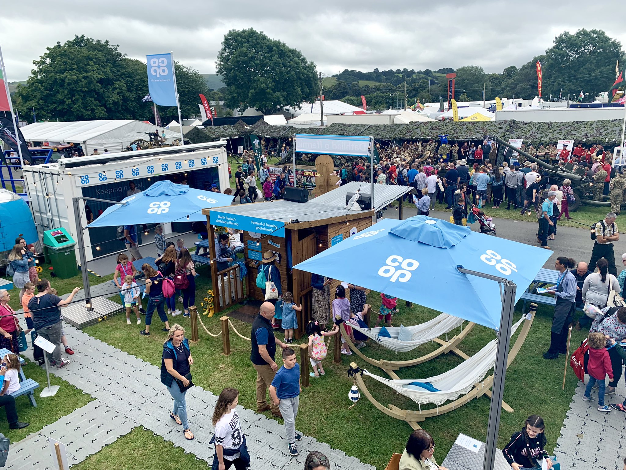 Co-Op Festival of Farming brand activation at Royal Welsh Show