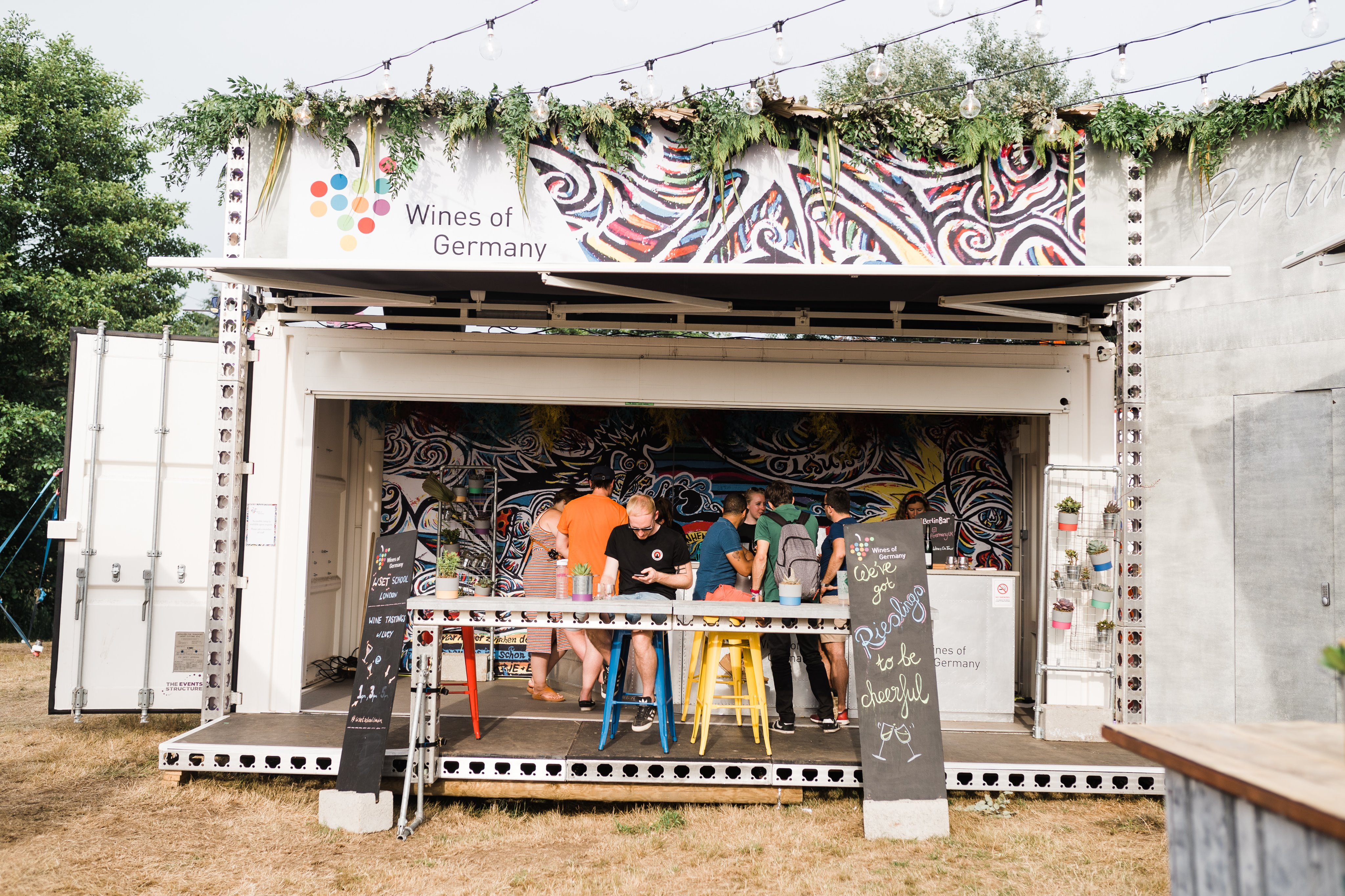 Germany of Wines pop-up shipping container bar at Latitude Festival