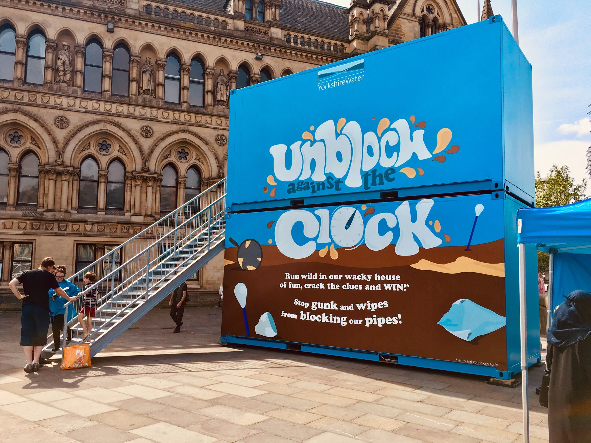 Yorkshire Waters bespoke shipping container brand activation
