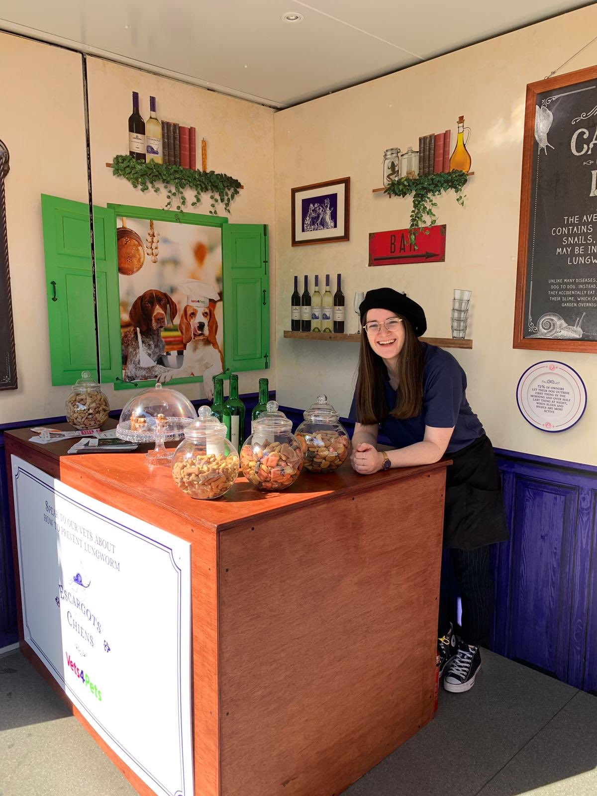 Vets4Pets serving treats at pop-up dog café in Victorian Park London