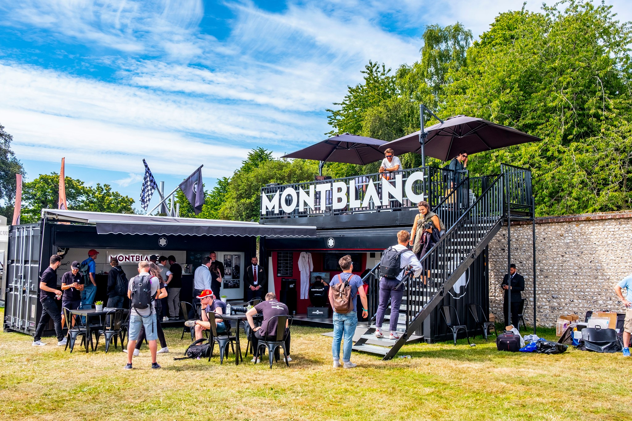 Shipping Container Converstion: Statement Event Container for Montblanc Goodwood of Speed Festival Activation