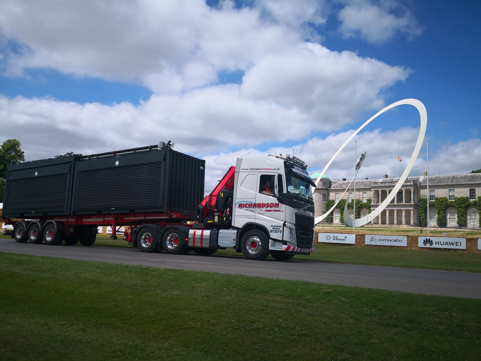 Customised container hire for Montblanc in transit to Goodwood Fetival of Speed