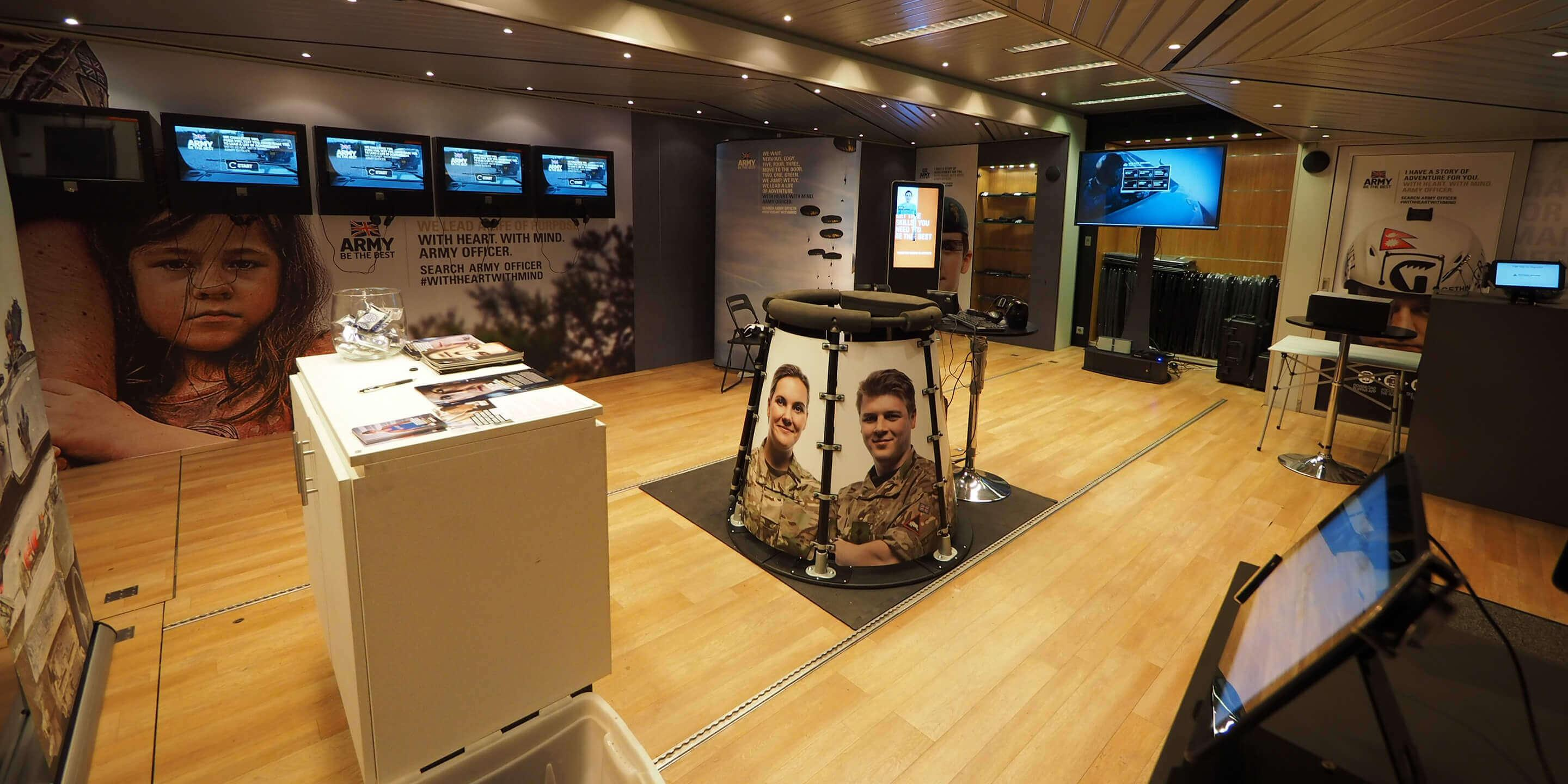 Army Exhibition Trailer interior