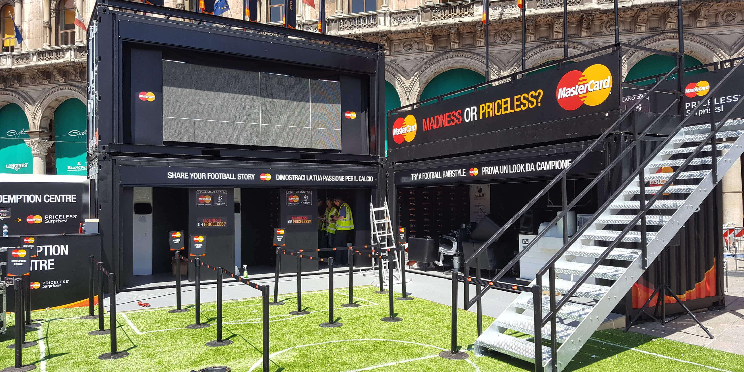 Event Shipping Containers: Statement for Mastercard UEFA Champions League Activation