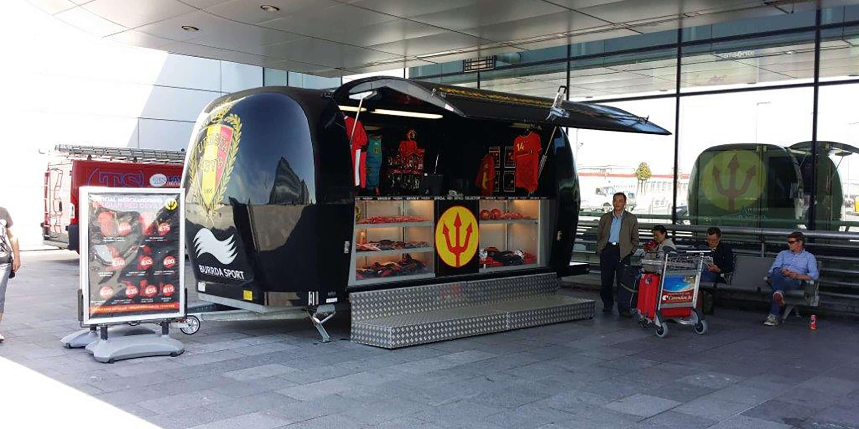 Exhibition Trailers: Explorer Promotional Vehicle for Burrda Store Tour