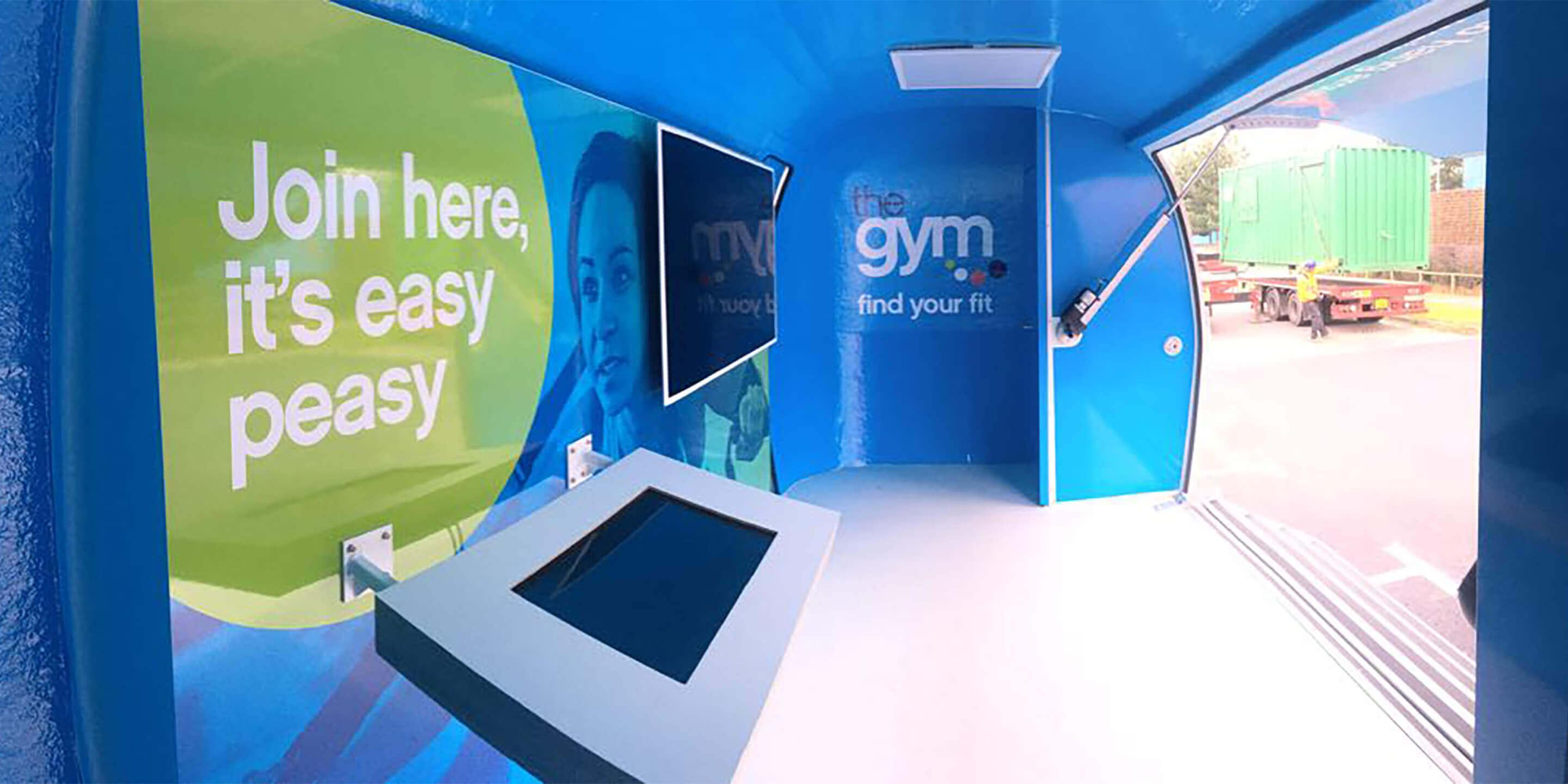 Exhibition Trailers: Explorer Promotional Vehicle for The Gym Group Awareness Tour Interior