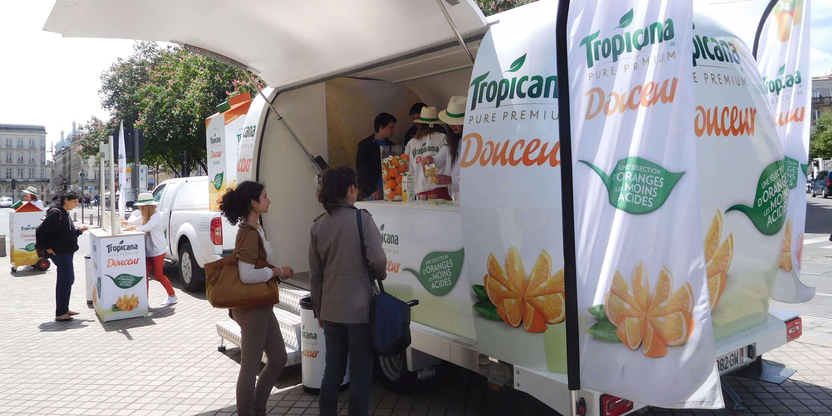 Exhibition Trailers: Explorer Promotional Vehicle for Tropicana Product Tasting Tour