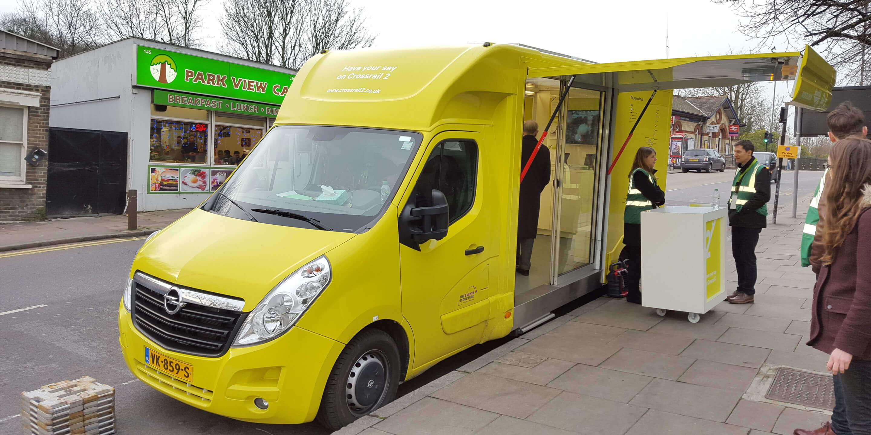 Self-Drive Exhibition Units: Ranger Promotional Vehicle for London Crossrail Promotion