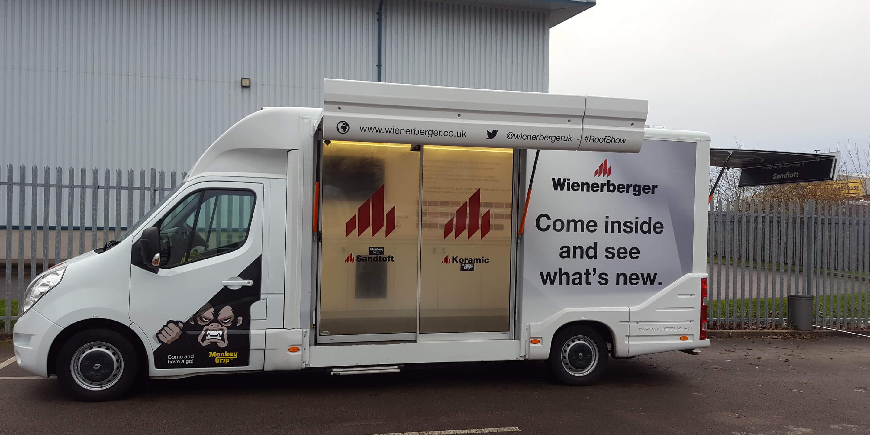 Self-Drive Exhibition Units: Ranger Model Promotional Vehicle for Weinerberger Promotion