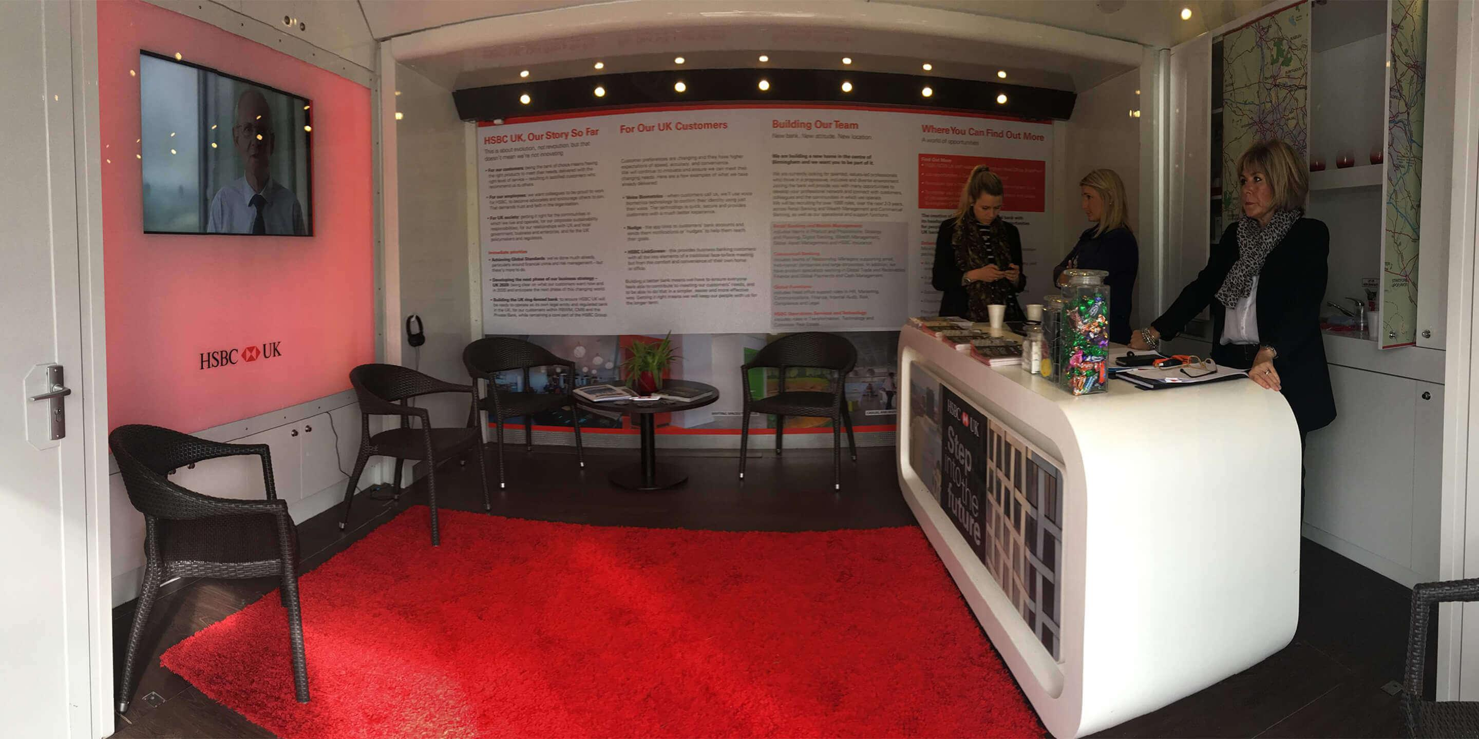 Exhibition Trailers: Relay Promotional Vehicle for HSBC Awareness Tour Interior