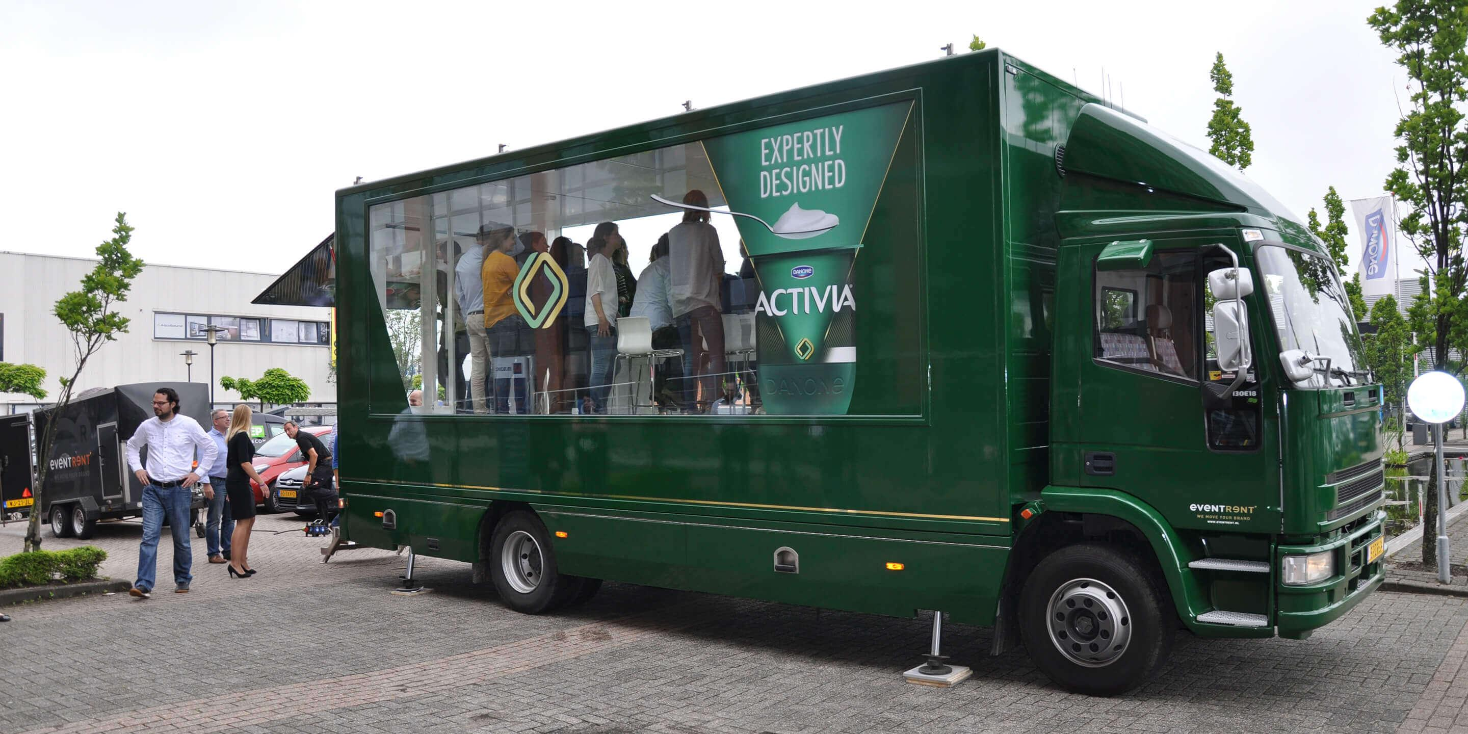Display Trailers: The Sky Box Mobile Showroom for Danone Activation