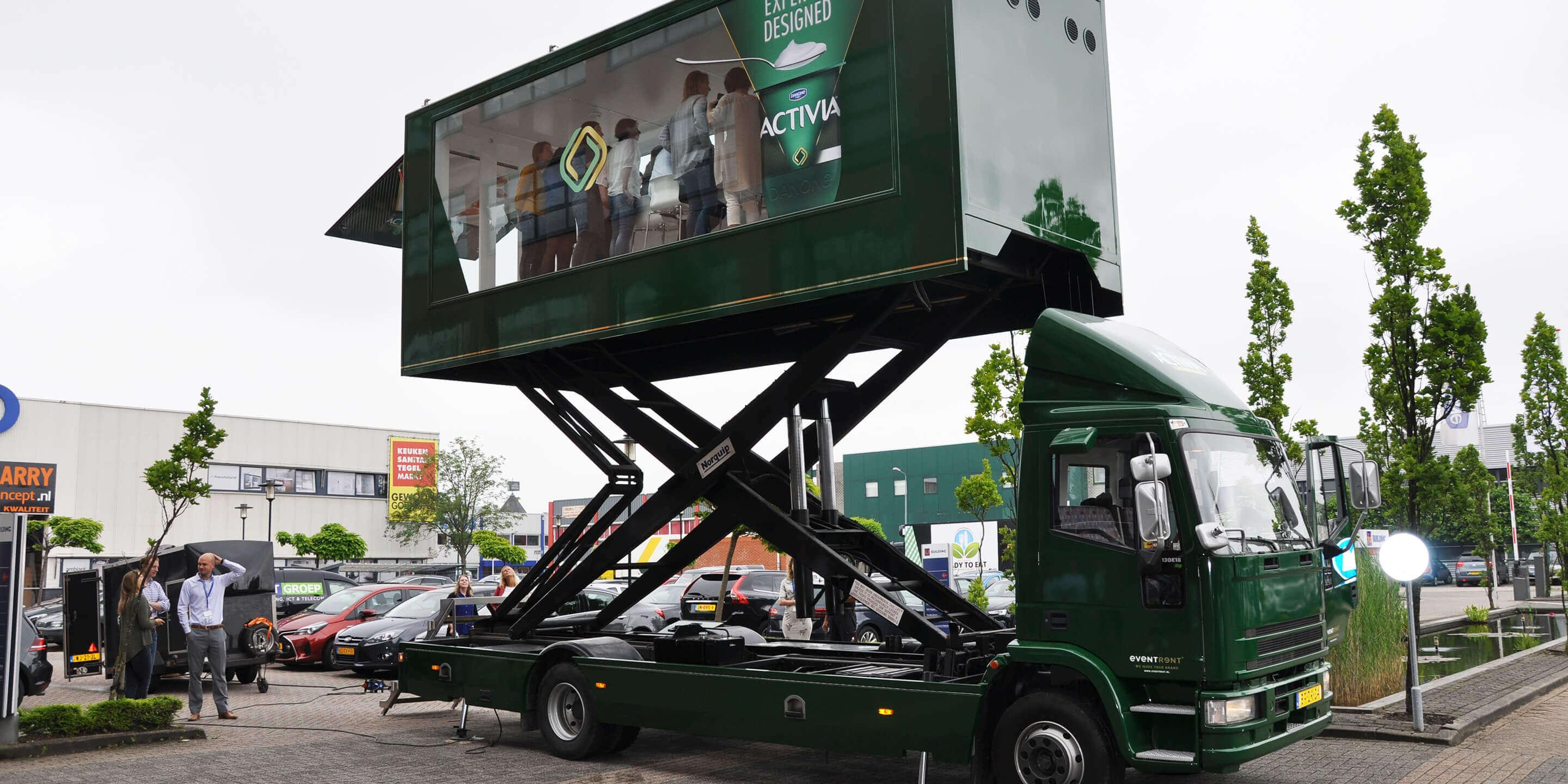 Display Trailers: The Sky Box Mobile Showroom for Danone