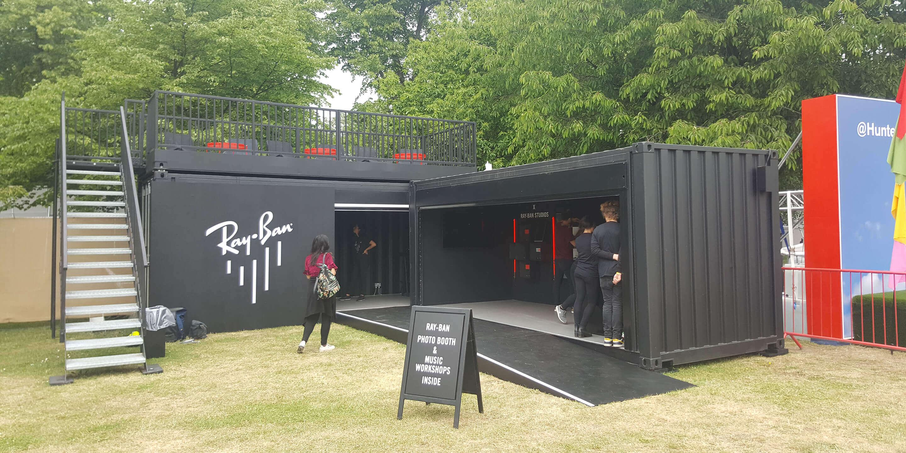 Event Shipping Containers: Statement for Ray-Ban Activation