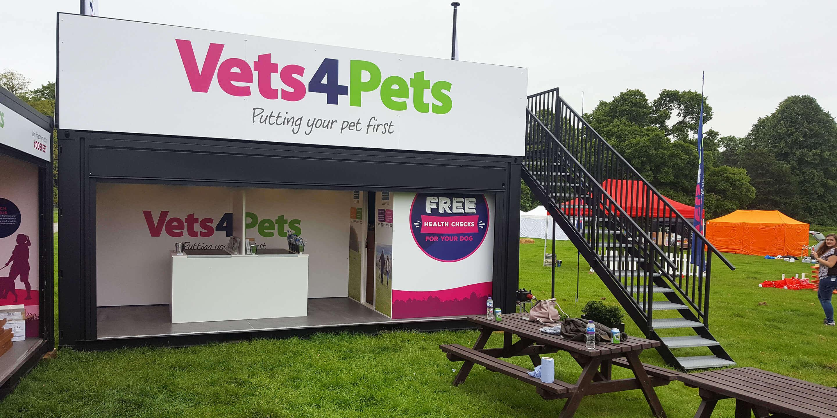 Event Shipping Containers: Statement for Vets4Pets Activation