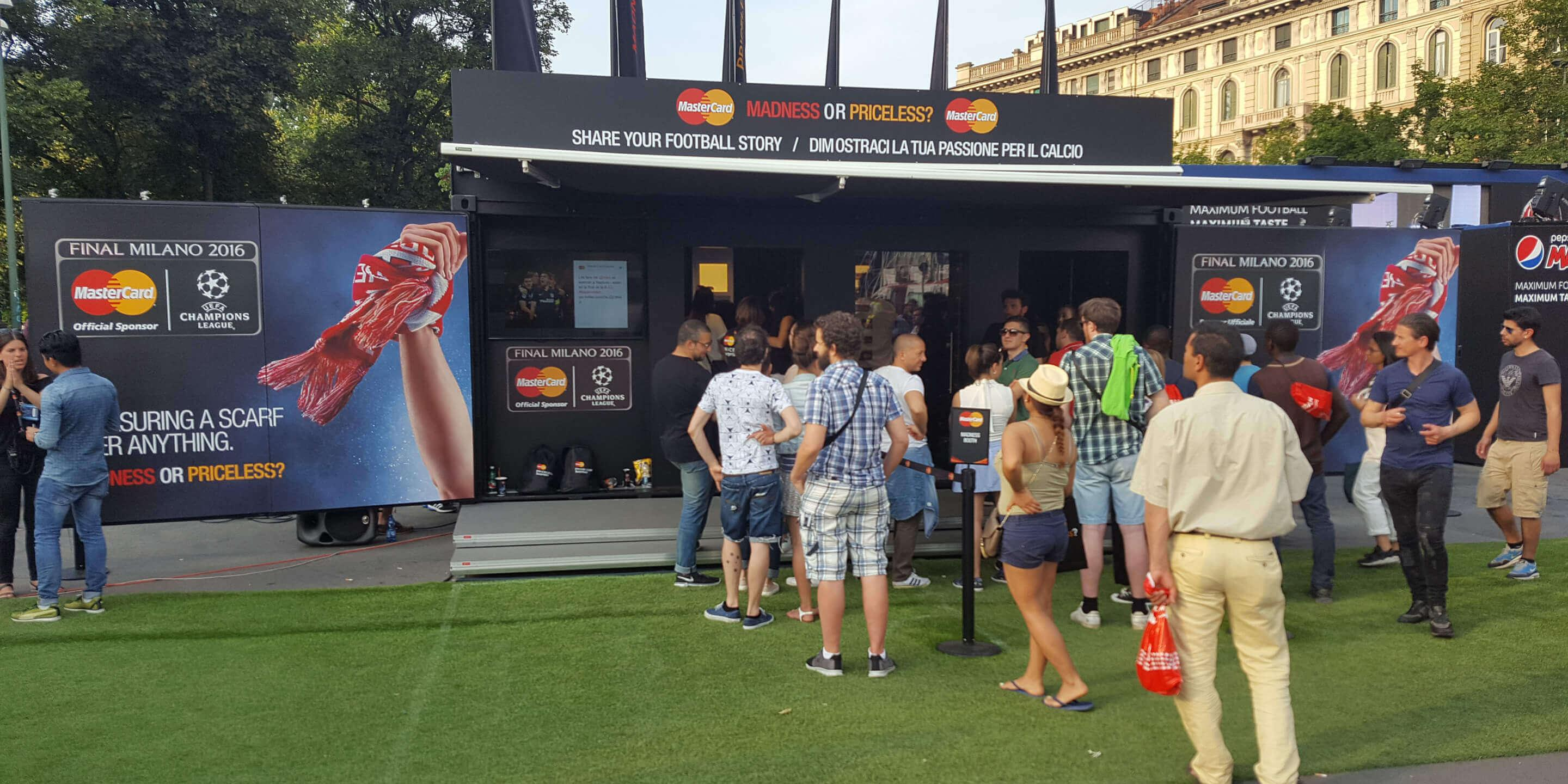 Event Shipping Containers: Studio Event Container for Mastercard UEFA Champions Activation