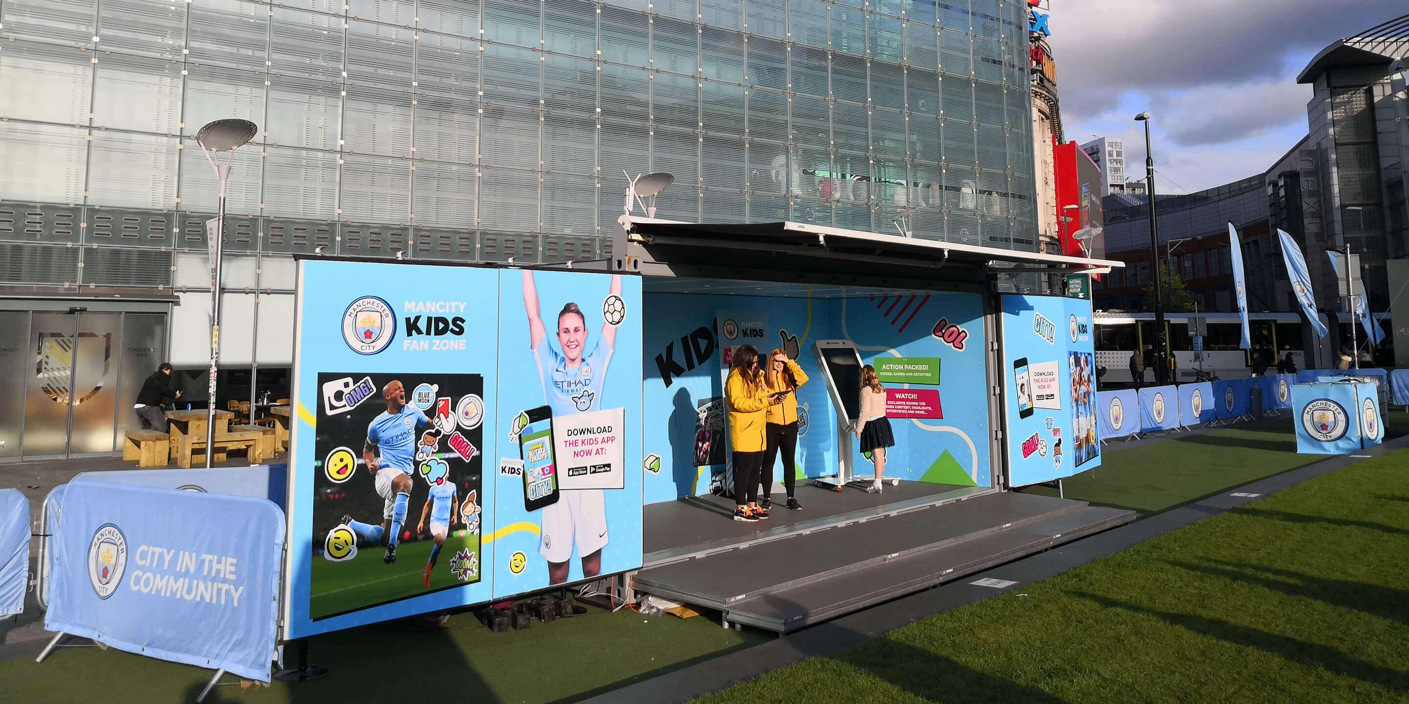 Event Shipping Containers: Studio Premium Event Container for Manchester City Activation