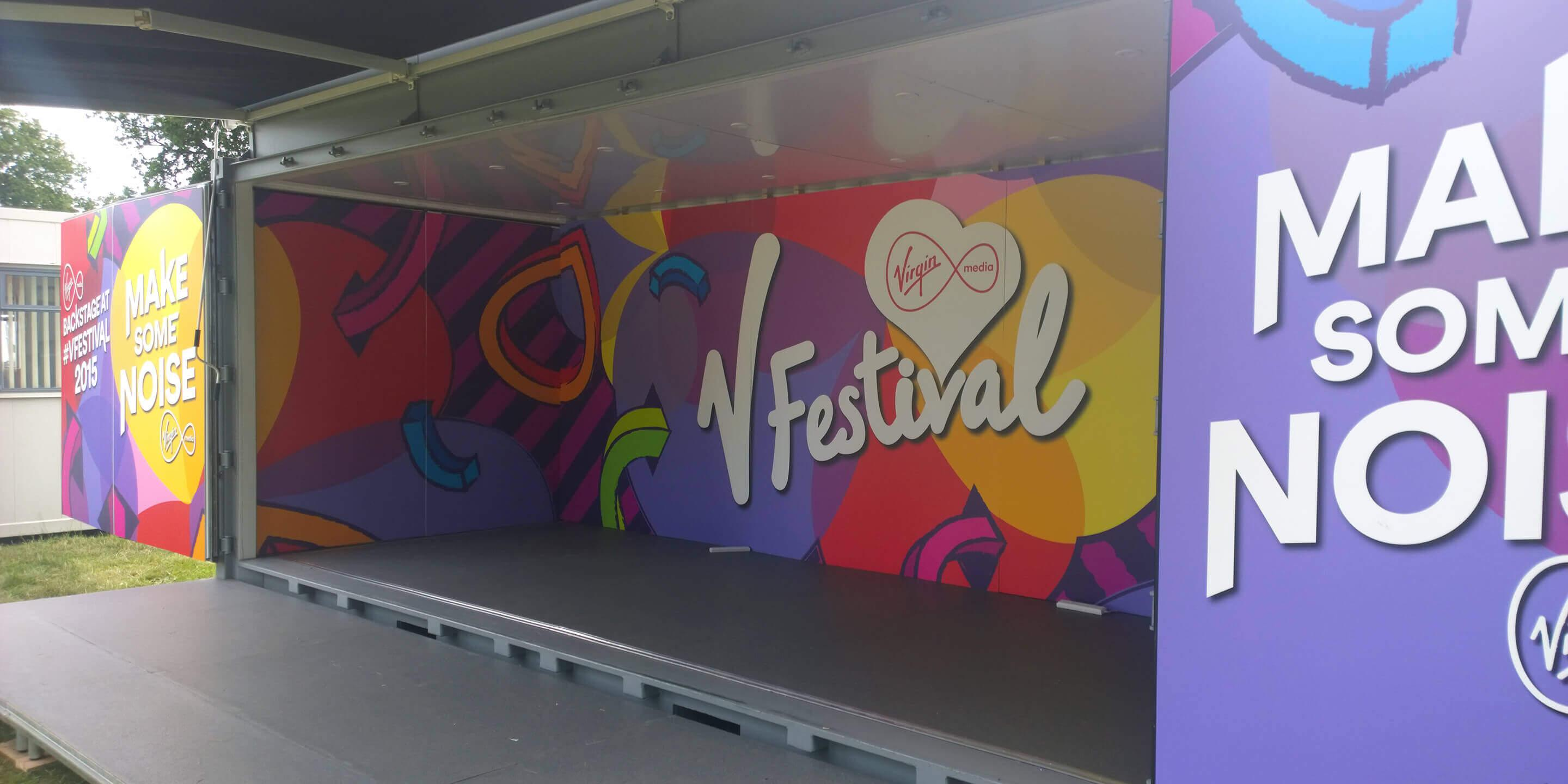 Event Shipping Containers: Studio Premium Event Container for V-Festival Activation
