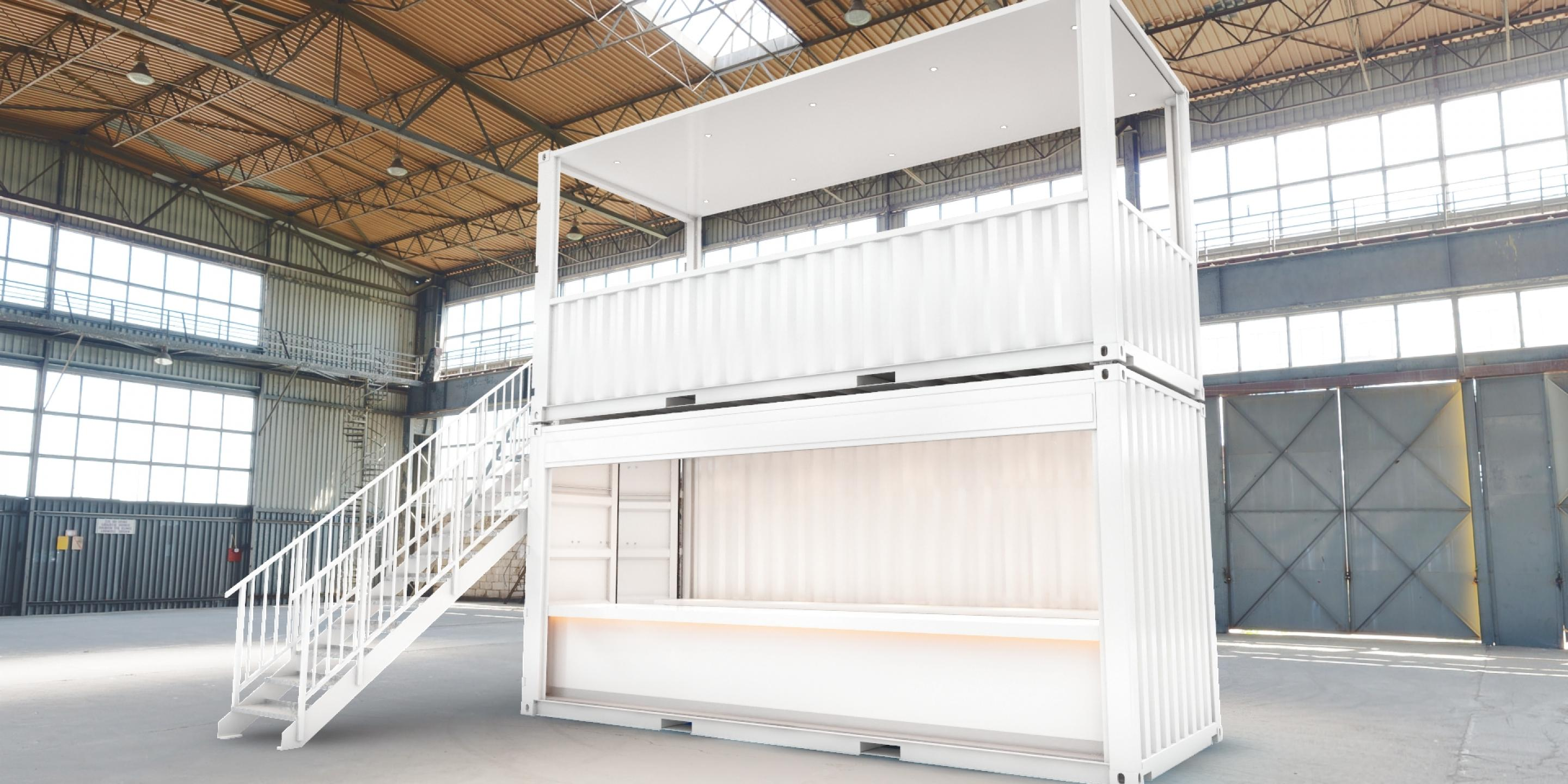 Impact Premium pop-up shipping container conversion bar