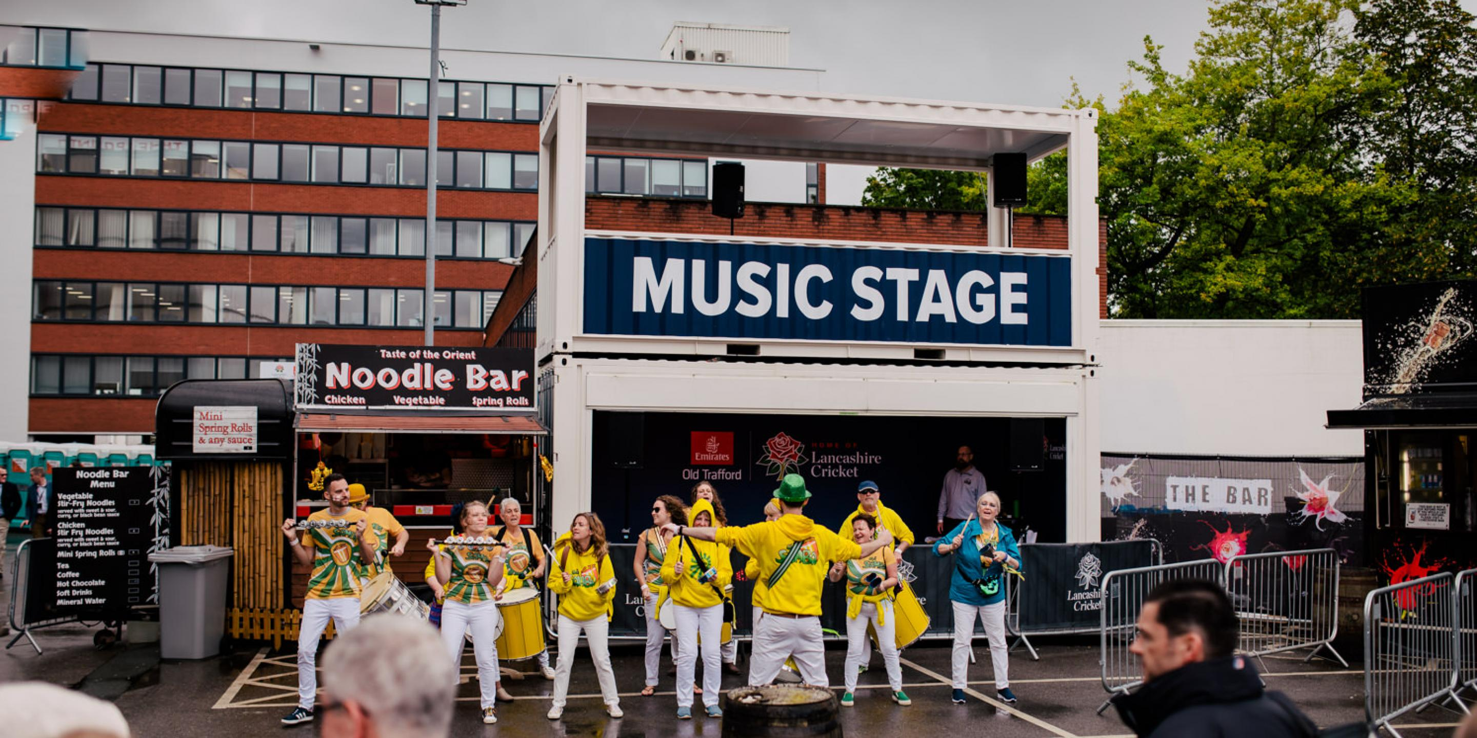 Music and entertainment stage at Vitality T20 Blast Cricket