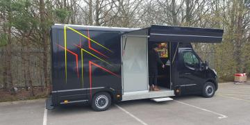 Self-drive exhibition unit Ranger promotional vehicle for Adidas roadshow tour
