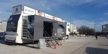 Momentum roadshow truck for the British Army recruitment activation
