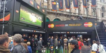 Event shipping containers Statement for Mastercard UEFA Champions League activation