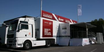 Event trailer on location roadshow truck tour with Intel product awareness campaign