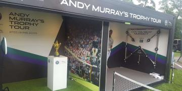 Event shipping containers Gallery event container for Wimbledon activation