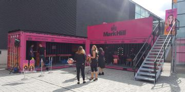 Customised container Statement for Mark Hill festival activation