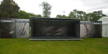 Event shipping containers Studio Premium event container for Download Festival activation