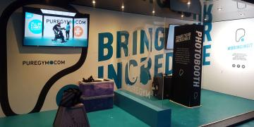 Event shipping containers Studio Premium event container for Pure Gym Bring Your Incredible activation