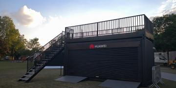 Impact shipping container conversion at All Points East festival with Huawei