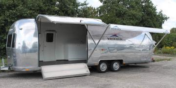 Airstream exhibition trailer ready for interior fit out and branding