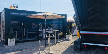 Rubble Master brand activation at Hillhead event using Gallery shipping container conversion