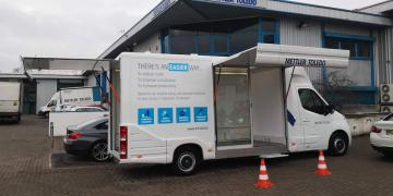 Ranger exhibition unit and promotional vehicle with Mettler Toledo